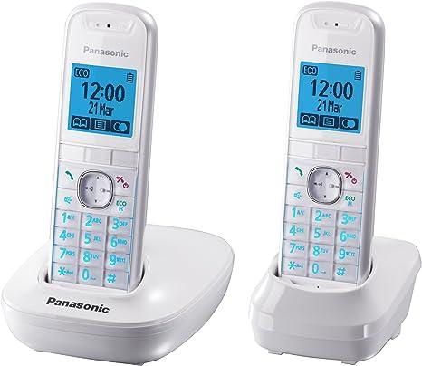 Panasonic KX-TG5512FRW duo - 2 teléfonos fijos inalámbricos DECT adicionales, color blanco (importado): Amazon.es: Electrónica