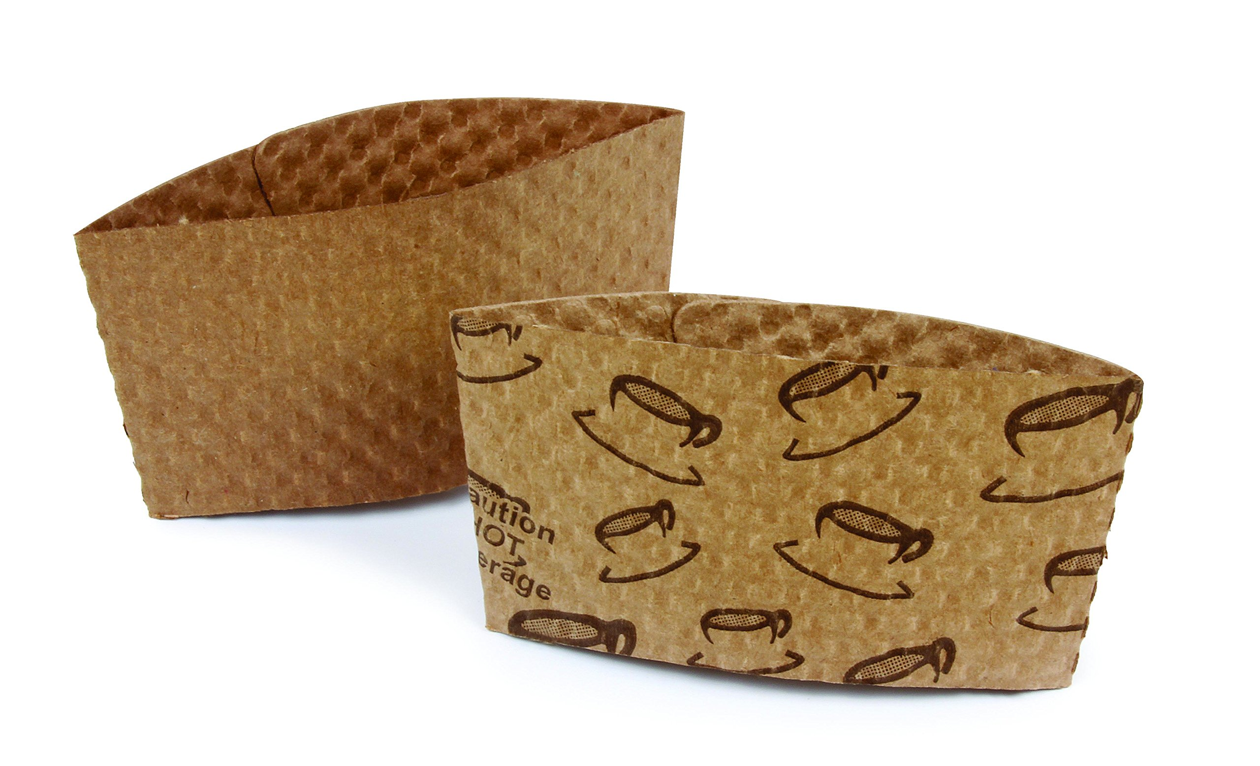 Bagcraft Papercon 300904 Java Jacket Cup Sleeve, Unprinted with Heat Activated Glue, Natural (Pack of 1300)