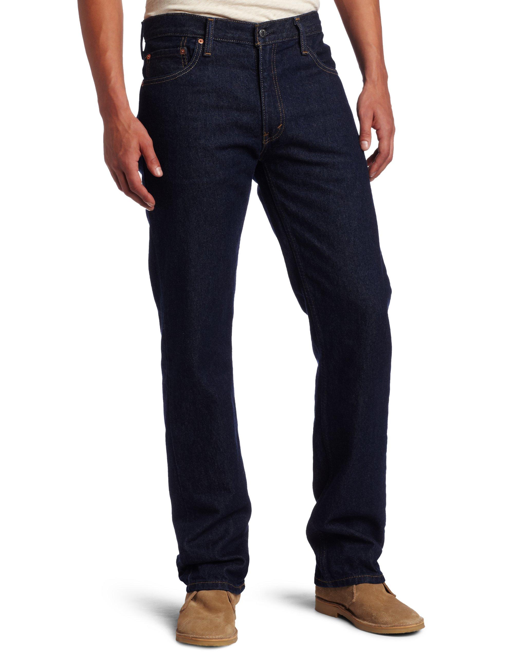 Levi's Men's 505 Regular Fit Jean, Rinse, 32x29