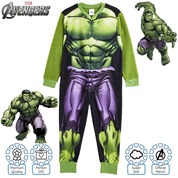 Marvel Avengers Boys All In One Size 5-6 Years New With Tags Hulk Ironman Thor