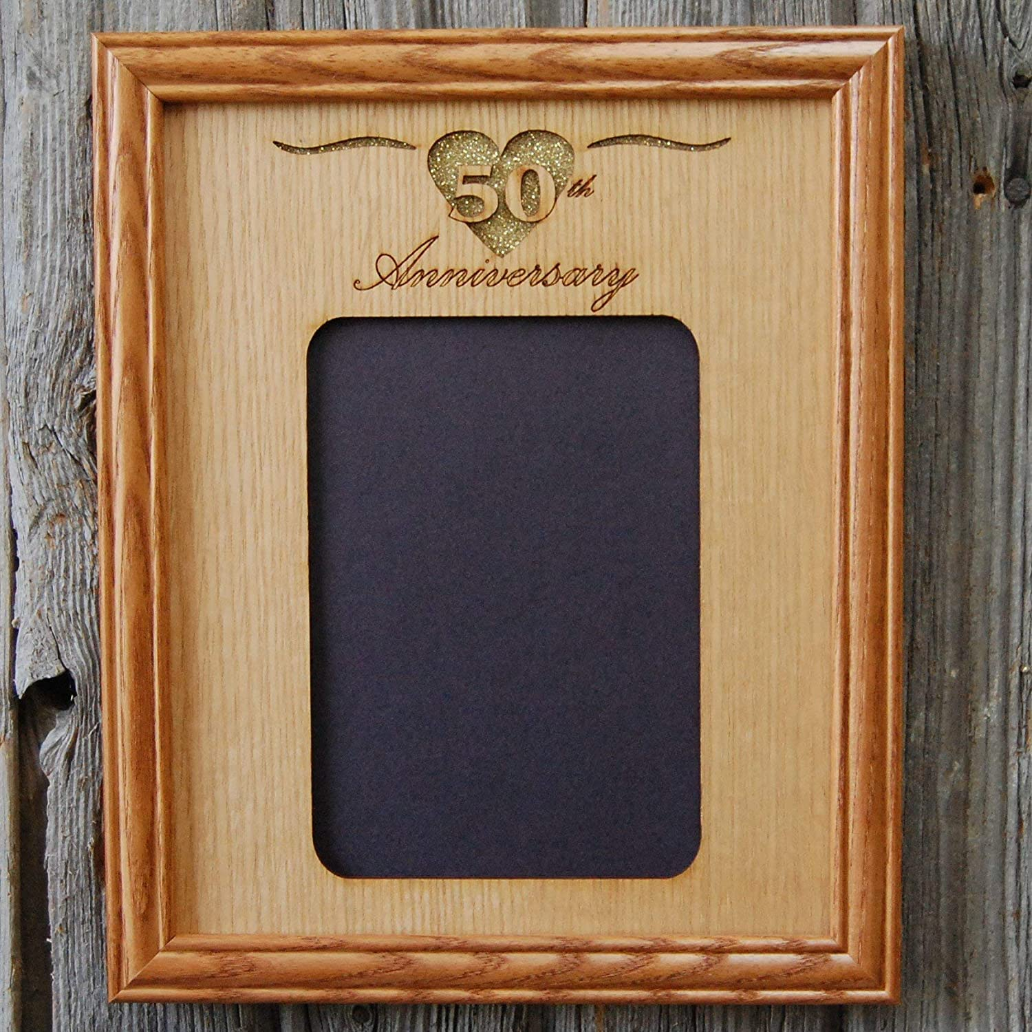 Holds 5x7 Photo 8x10 50th Anniversary Picture Frame