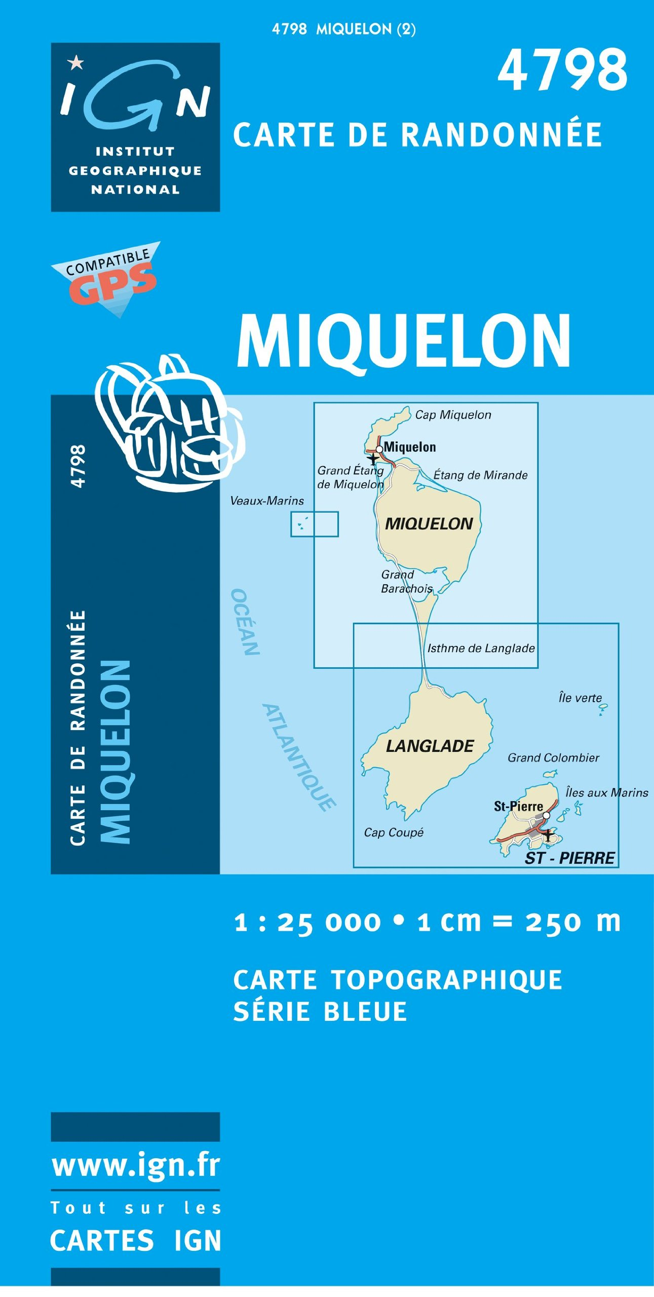 Carte Canada Ign.Miquelon Canada Ign 1 25 000 Collectif 9782758507437 Amazon Com