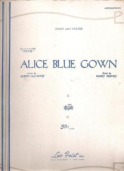Amazon.com: Sheet Music 1934 Alice Blue Gown Joseph McCarthy Harry ...