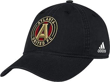 reputable site 63bcc a56c7 adidas Men s Atlanta United Black Adjustable Slouch Hat (OneSizeFitsAll)