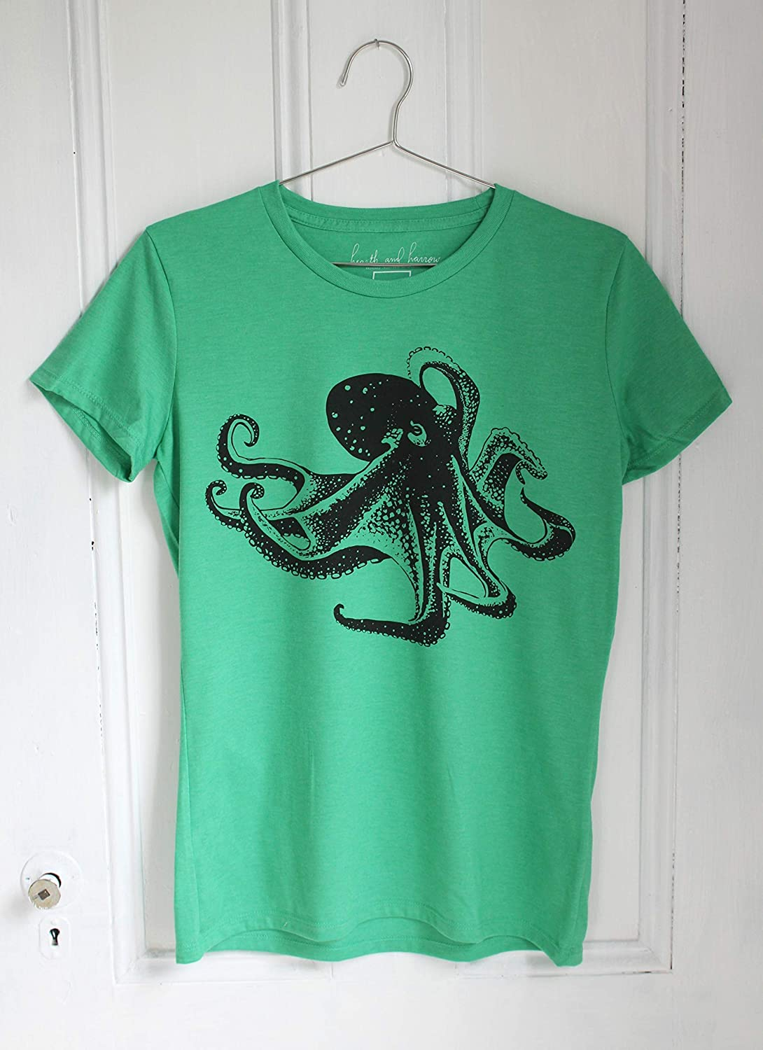 Octopus Workout T-Shirt Cute Smiling Jellyfish Lady T-Shirts Top T Shirt Ladies