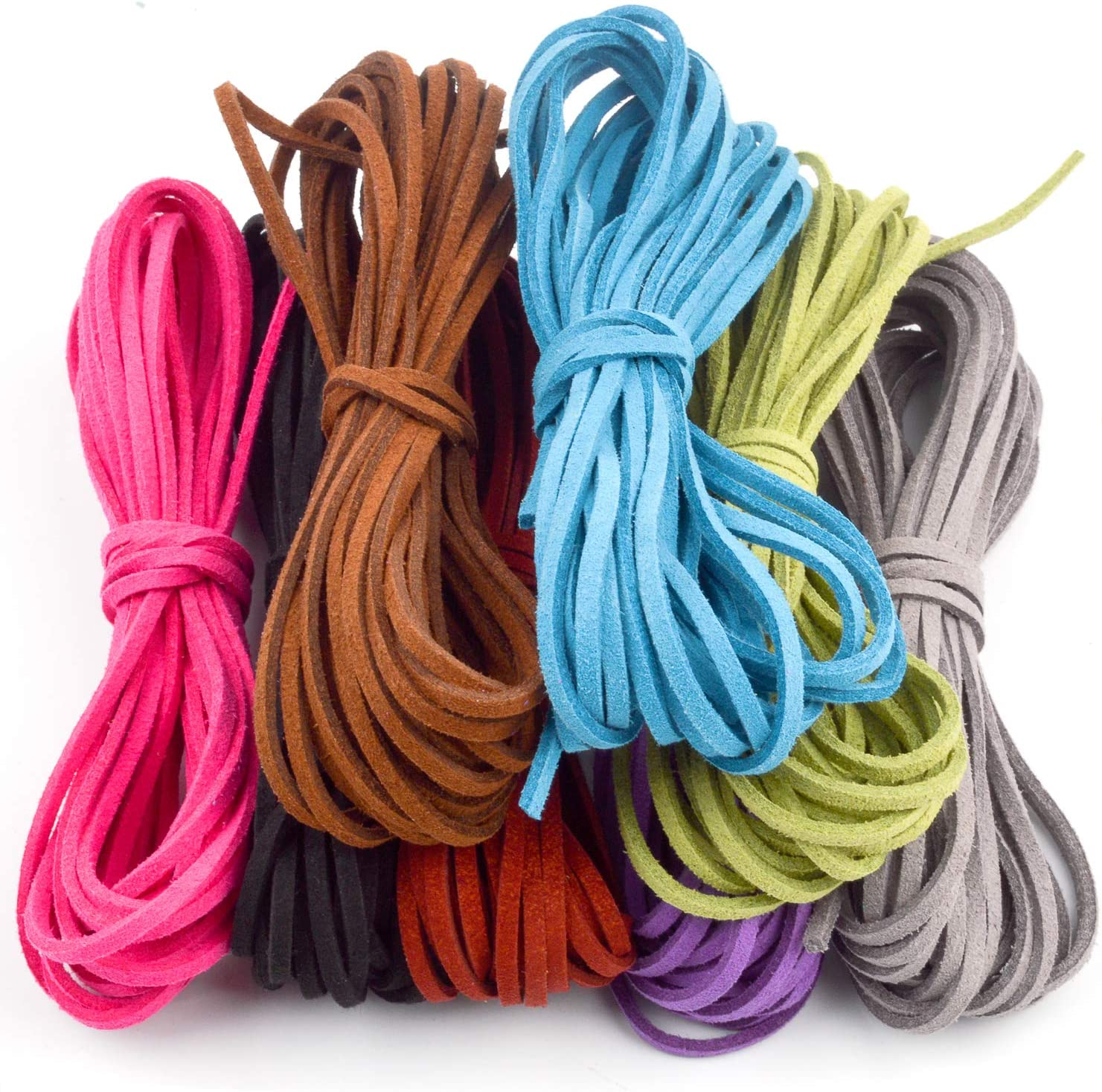 Jnch 3mm x 5m suede leather rope cord for bracelet necklace
