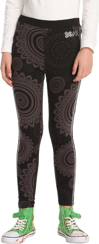 Desigual Big Fille Legging Tricot Circulaire Graphics Noir