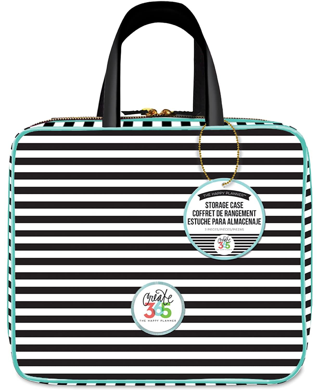 Me and My BIG Ideas Striped Storage Case Planner PLSC-01