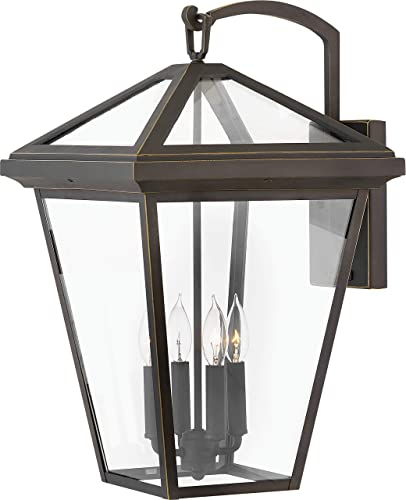 Hinkley 2568OZ 2568OZ-LL Alford Place-24 20W 4 Outdoor Extra Large Wall Lantern, Finish with Clear Glass, Extra Large, Oil Rubbed Bronze LED