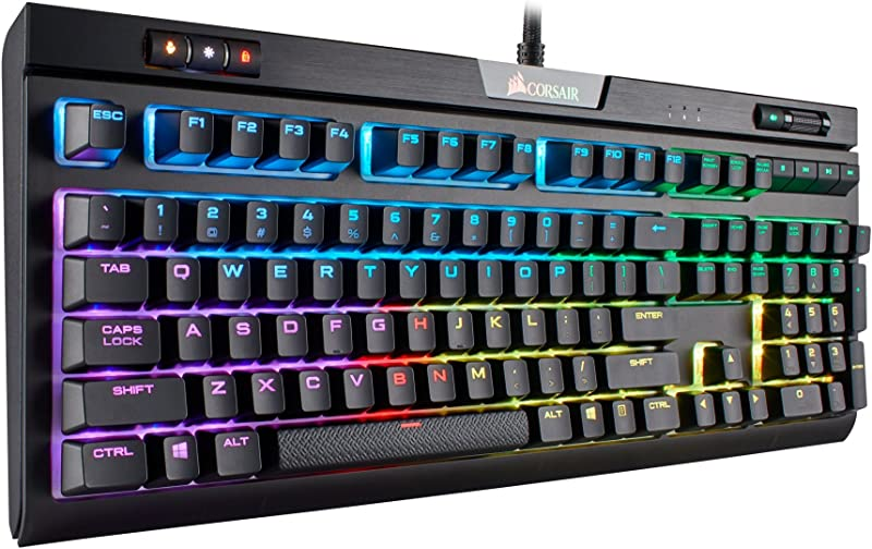 CORSAIR Strafe RGB MK.2 Mechanical Gaming Keyboard - USB Passthrough - Linear and Quiet - Cherry MX Red Switch - RGB LED Backlit
