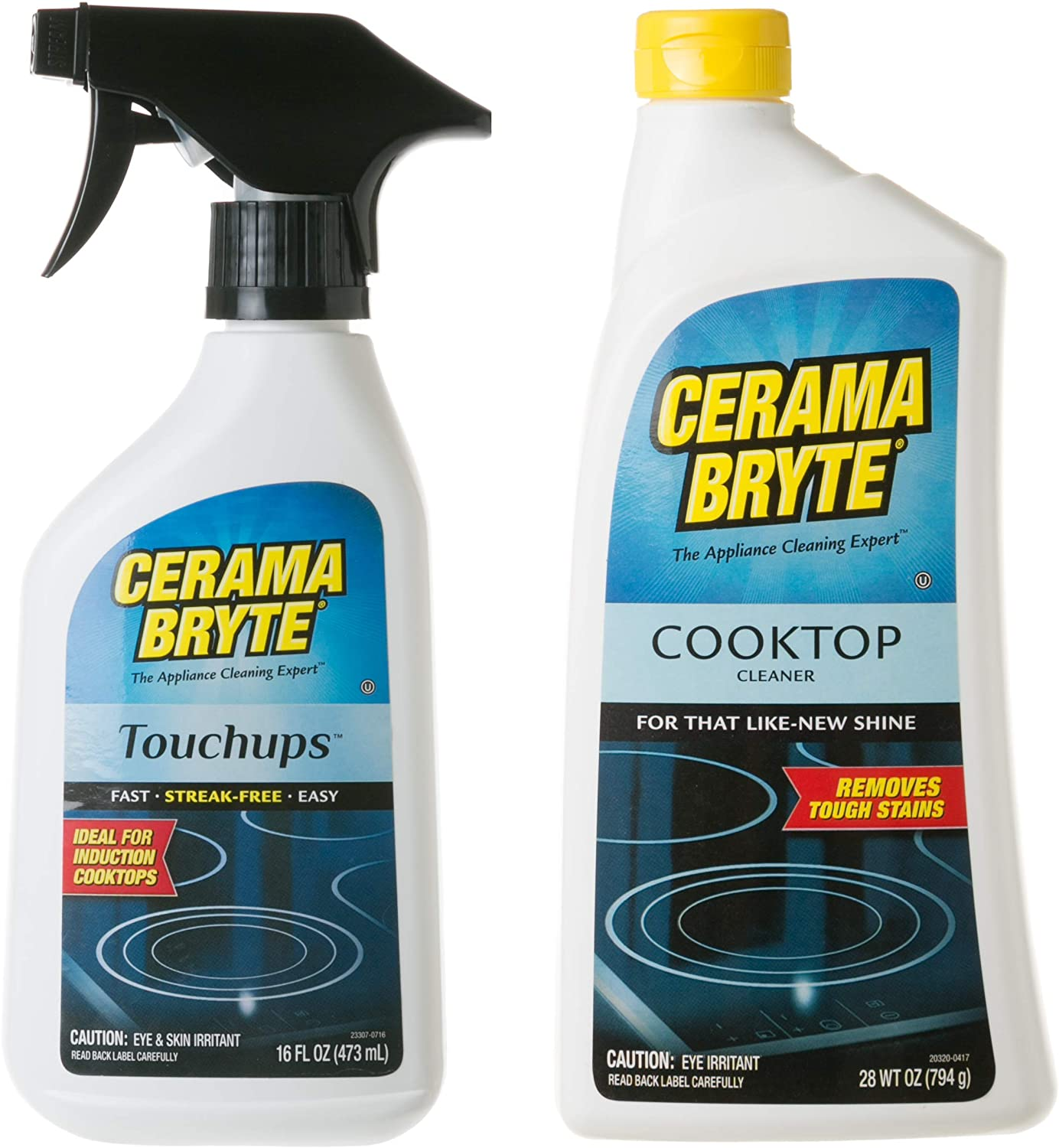Cerama Bryte Glass-Ceramic Cooktop Cleaning Combo - Cooktop Cleaner (28 oz), with Touchups Spray (16 oz)