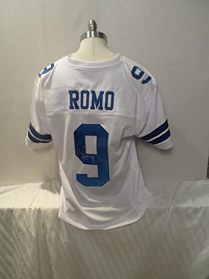 04e3db673 Tony Romo Signed Dallas Cowboys White Autographed Jersey Novelty Custom  Jersey at Amazon's Sports Collectibles Store