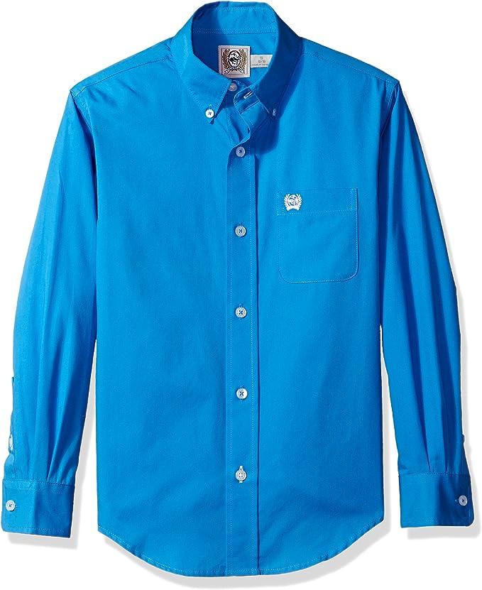 Cinch! Niños MTW706 Manga Larga Camisa de Botones - Azul - X-Small: Amazon.es: Ropa y accesorios