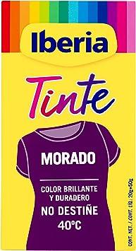 Iberia - Tinte Morado para ropa, 40°C