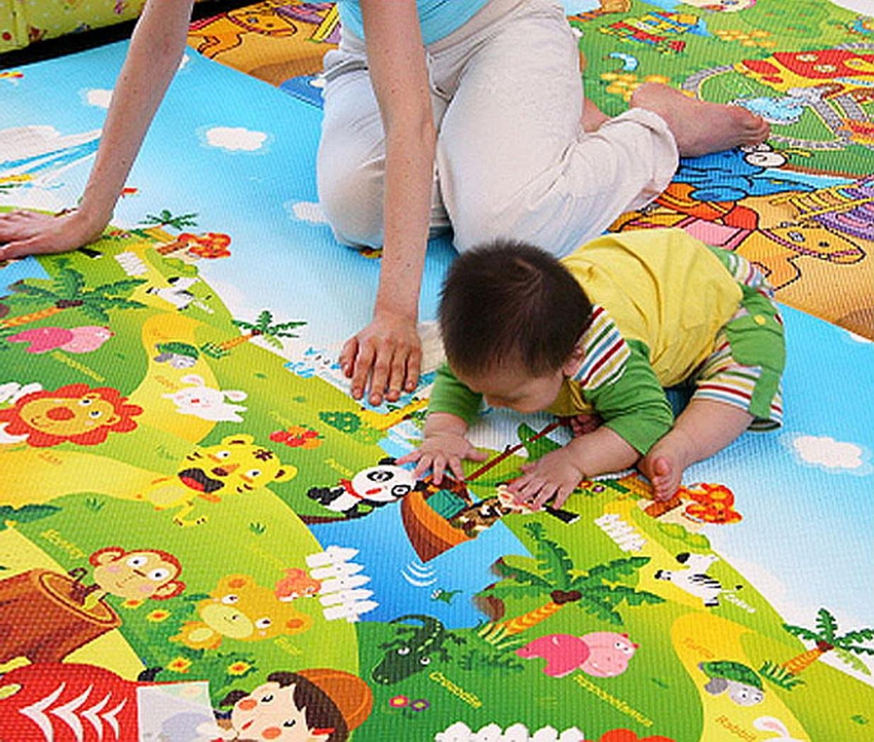 Baby Playing Mat Ocean Animal Crawling Floor Pad with Carring Bag [US Stock] (2) by Rateim (Image #4)