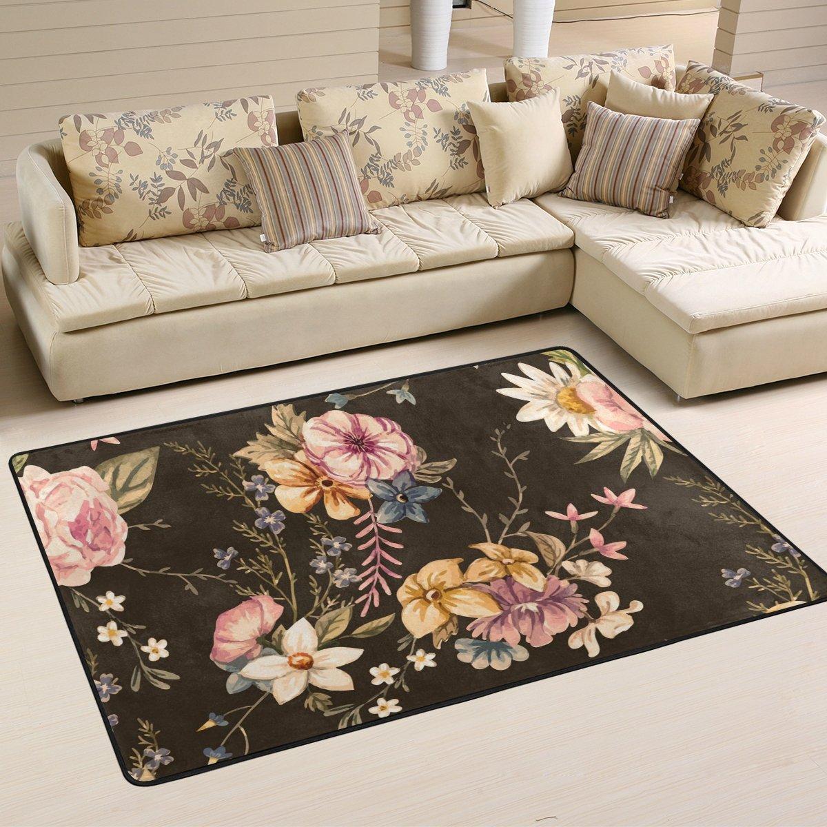 ingbags Leaf Blume Tropical Wohnzimmer Essbereich Teppiche 3x 2Füße Bed Room Teppiche Büro Teppiche Moderner Boden Teppich Teppiche Home Decor, multi, 3 x 2 Feet
