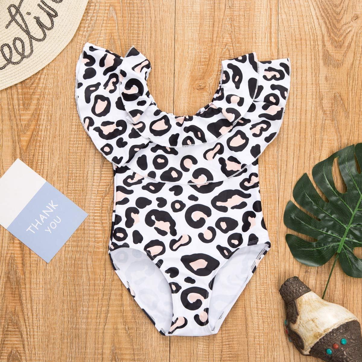 Loalirando Costume da Bagno Madre e Figlia Famiglia Bikini Leopardato Costumi Interi Spiaggia Elegante Un Pezzo Push Up