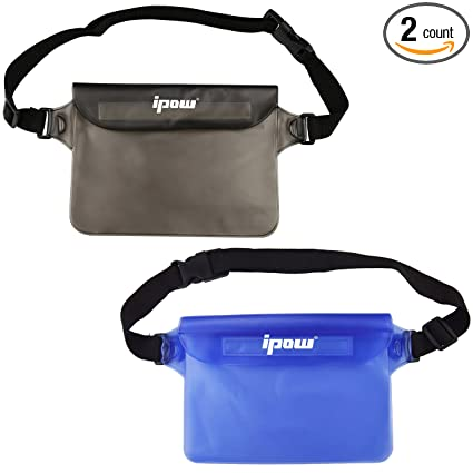 f5e1ec24d61 Amazon.com   IPOW IP68 Waterproof Pouch with Waist Strap (2 Pack ...