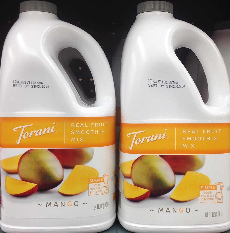 Torani Real Fruit Smoothie Mix MANGO 64oz (2 Pack) by Torani