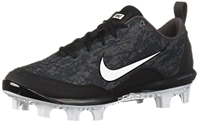 7998b5264a1 Nike Women s Hyperdiamond 2 Pro MCS Baseball Shoe Black White - Thunder  Grey 5 Regular