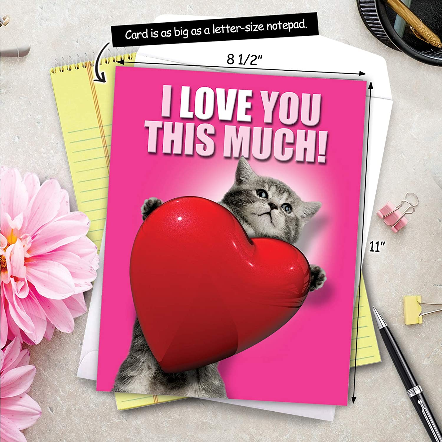 Valentine/'s Card You/'re Fine Cat Love Card \u2014 Anniversary Card Eco-Friendly Packaging Relationship Goals Card Valentine/'s Day Card
