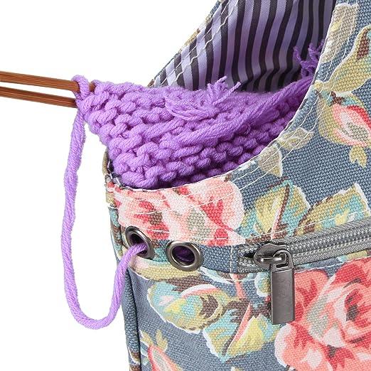 Teamoy Bolso de Ovillos Bolsa en Mano de Tejer Bolsos para Agujas Mochila de Crochet (pequeño, Peonía): Amazon.es: Hogar