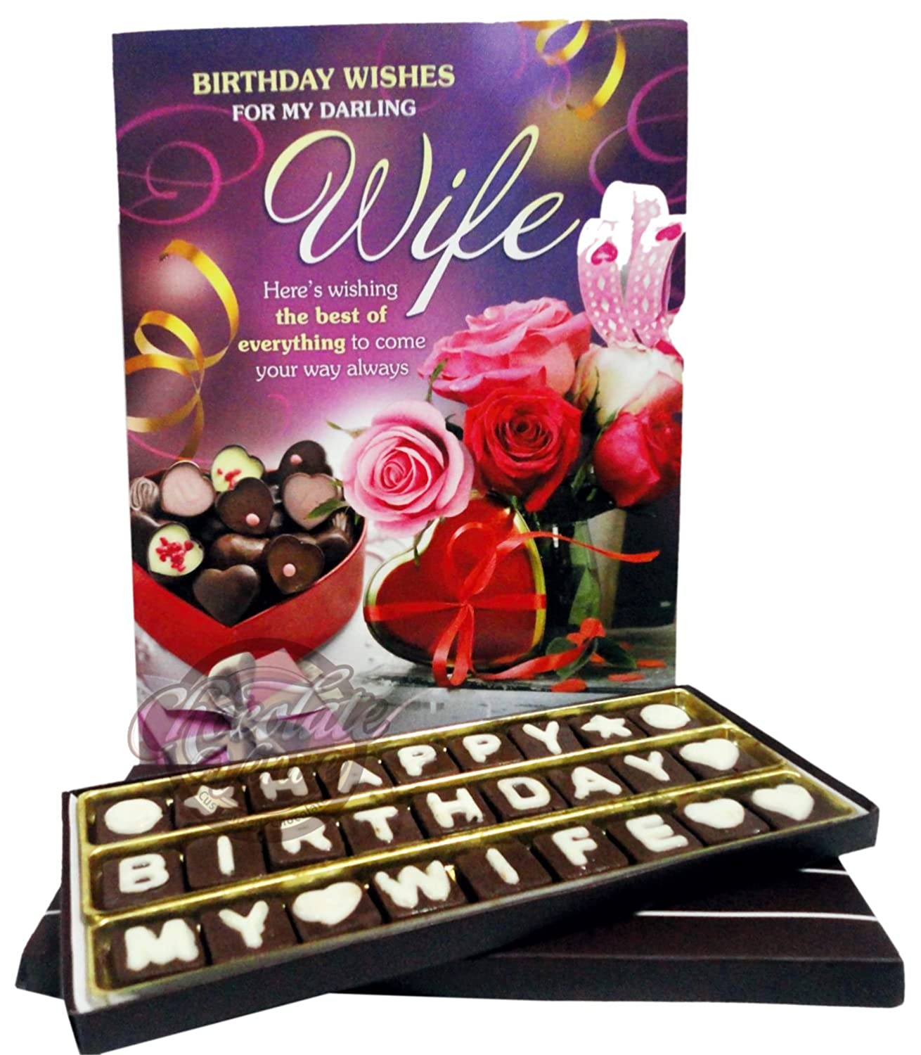 Chocolate Venue Birthday Gift For Wife With Greeting Card Amazonin Grocery Gourmet Foods