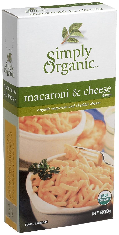 Simplemente orgánico Macaroni y Queso Cheddar (, cajas 6 ...