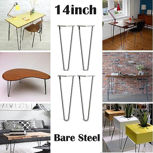 2018 Nuevo diseño de 36 cm patas de horquilla de mesa DIY muebles ...
