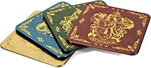 Paladone Harry Potter Coasters for Drinks - Hogwarts Crest Design - Premium Metal Drink Coaster