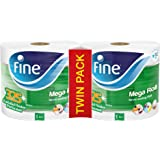 FINE Mega Roll Hand Towel 1500sheets x 1 Ply, Pack of 2