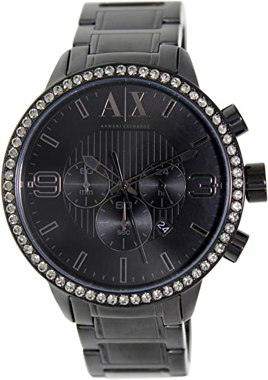 0cec9ca2fdb3 Amazon.com  Armani Exchange Men s AX1271 Black Stainless-Steel Quartz Watch  with Black Dial  Armani Exchange  Watches