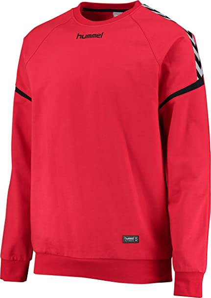 hummel AUTH Charge Cotton Sudadera, Hombre, Color Rojo (True Red), tamaño Medium