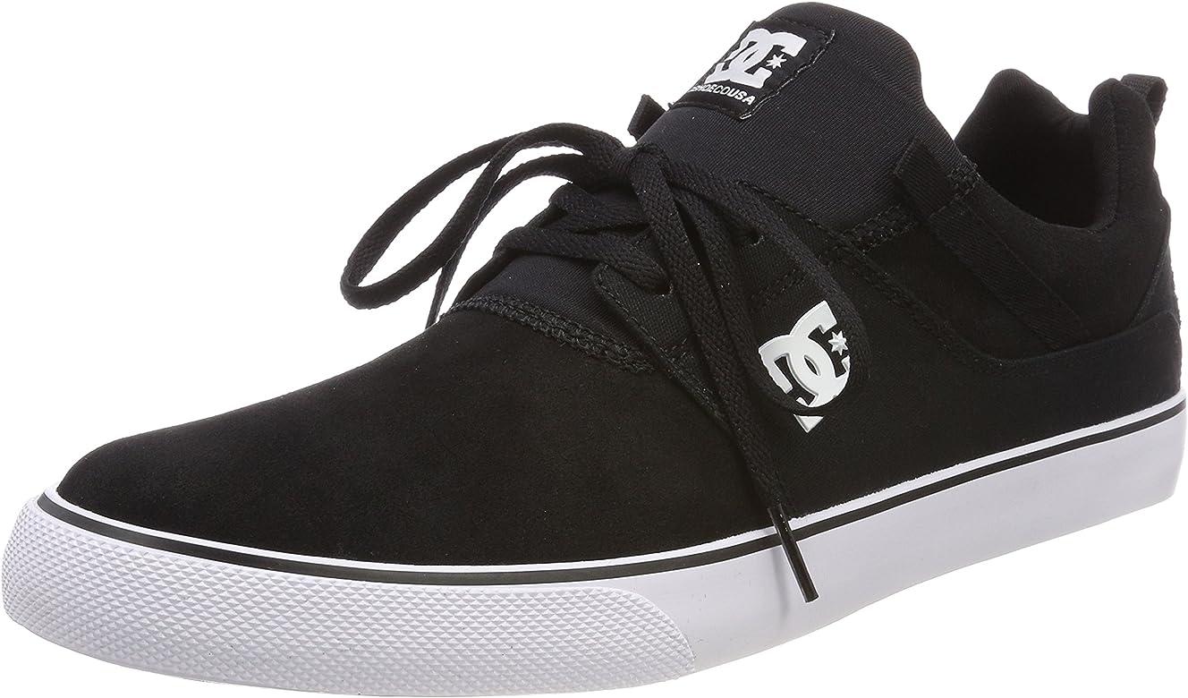 8db36fa6b191a6 DC Shoes Heathrow Vulc, Chaussures de Skateboard Homme, Noir (Black/White  BKW