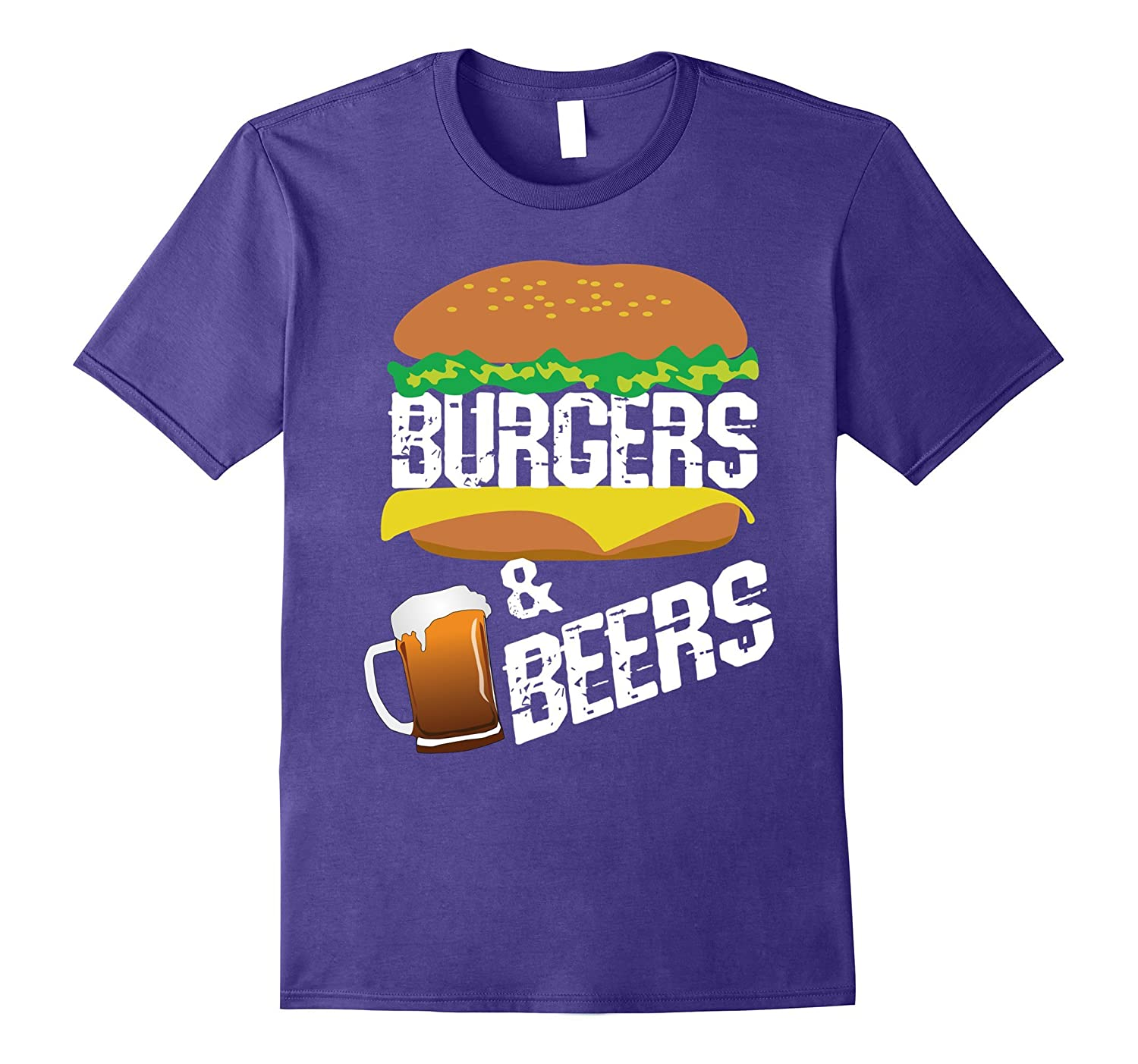 Burgers and Beers T Shirt for fans of Hamburgers and Craft