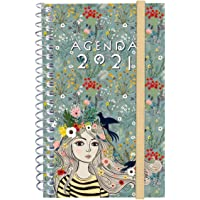 Finocam - Agenda 2021 Semana vista apaisada Espiral Design Collection Lady Catalán