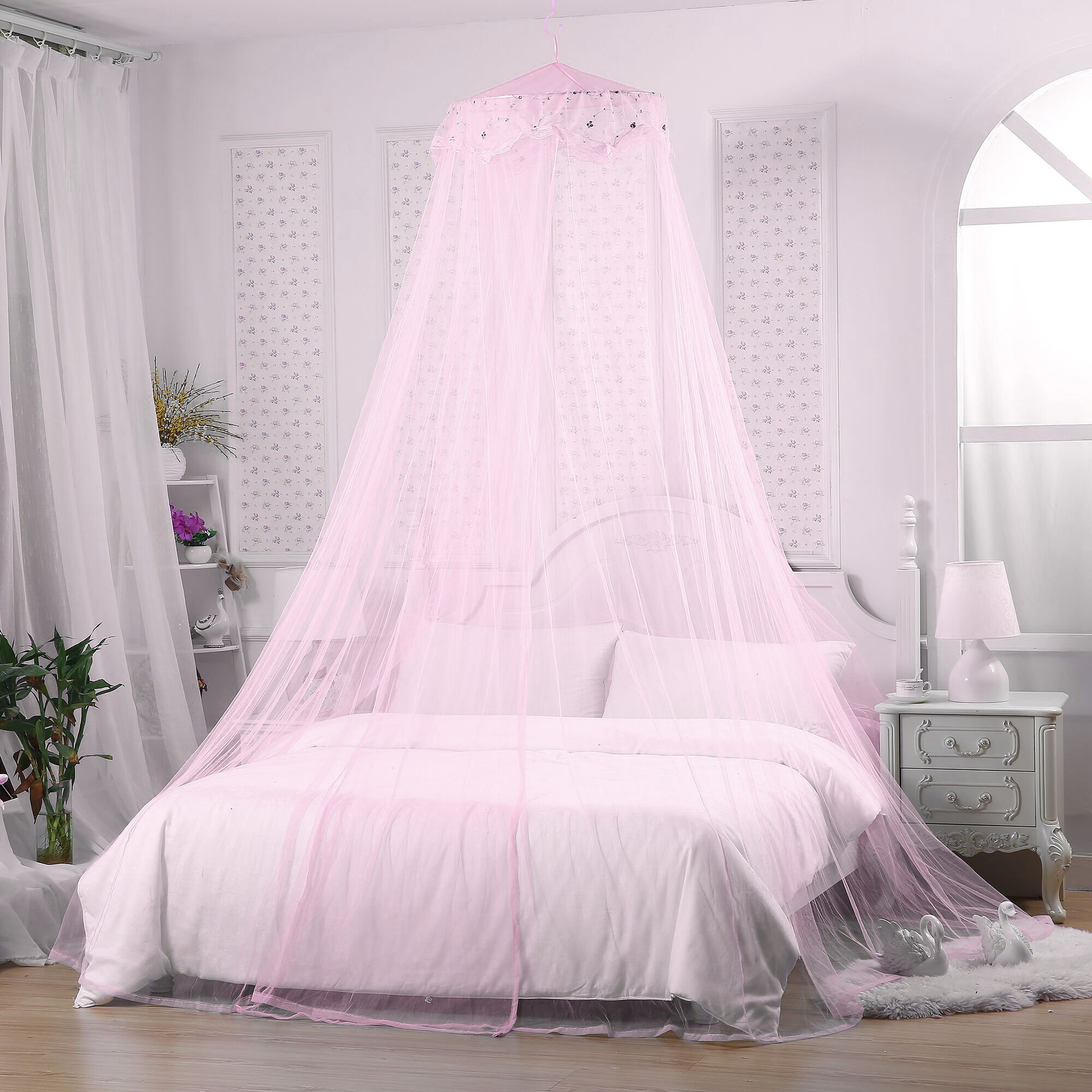 Jeteven Princess Mosquito Net Lace Dome Bed Canopy for Children Fly Insect Protection Indoor/Outdoor & Bed Canopies for Children: Amazon.co.uk
