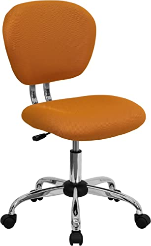 Flash Furniture Mid-Back Orange Mesh Padded Swivel Task Office Chair