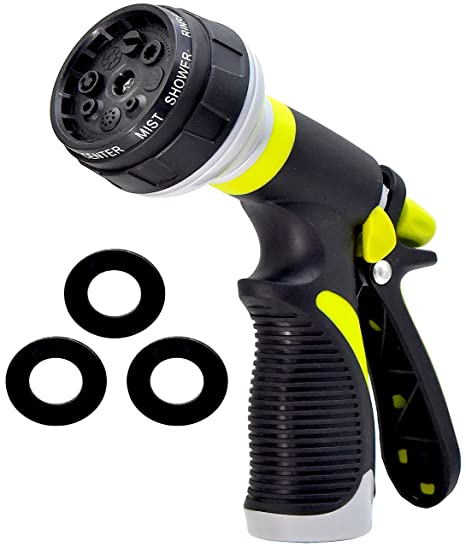Car Wash and Showering Pets Cleaning Hose Spray Nozzle Hose Nozzle for Watering Plants TUKNON Garden Hose Nozzle Water Hose Nozzle with 8 Adjustable Watering Patterns