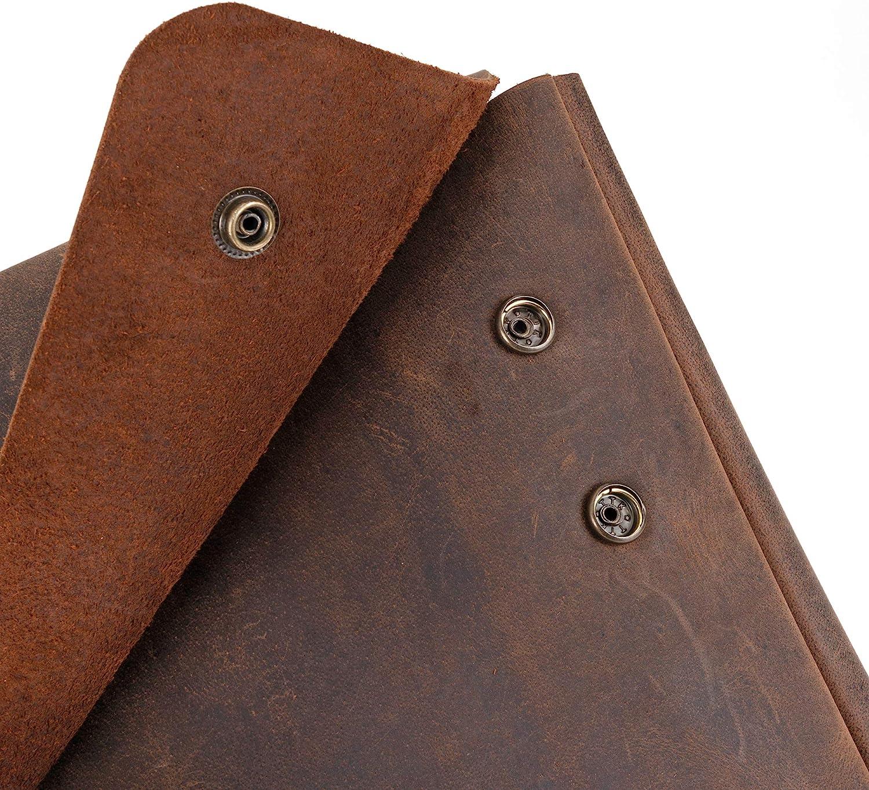 MacBook /& Tablets Laptoptasche aus echtem Leder Used-Look Portfolio-H/ülle rustikaler B/üffelleder-Ordnerhalter ger/äumiges perfekt f/ür 13-14-15-Zoll-Laptops handgefertigtes tr/ägerloses Design