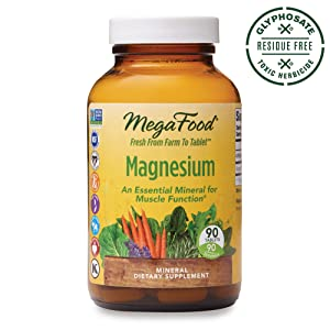 MegaFood, Magnesium, Helps Maintain Nerve and Muscle Function, Essential Mineral Dietary Supplement, Gluten Free, Vegan, 90 Tablets (90 Servings) (FFP)