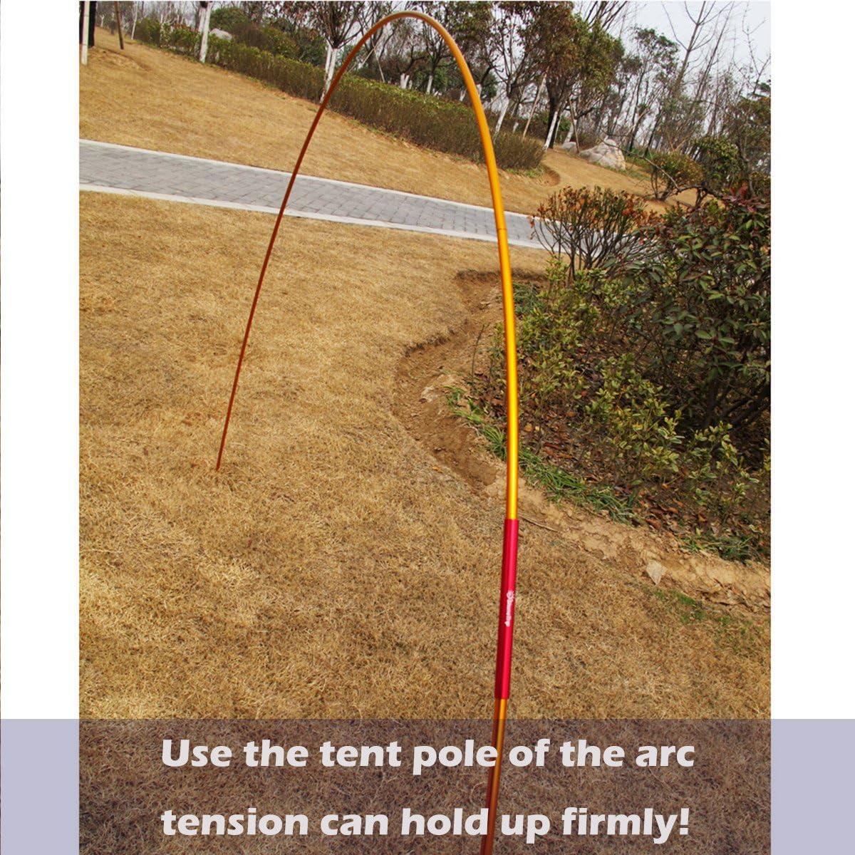 Azarxis Tent Pole Repair Splint Repair Kit Spare Repair Emergency Tube for Diameter 7.9-8.5mm Tent Pole