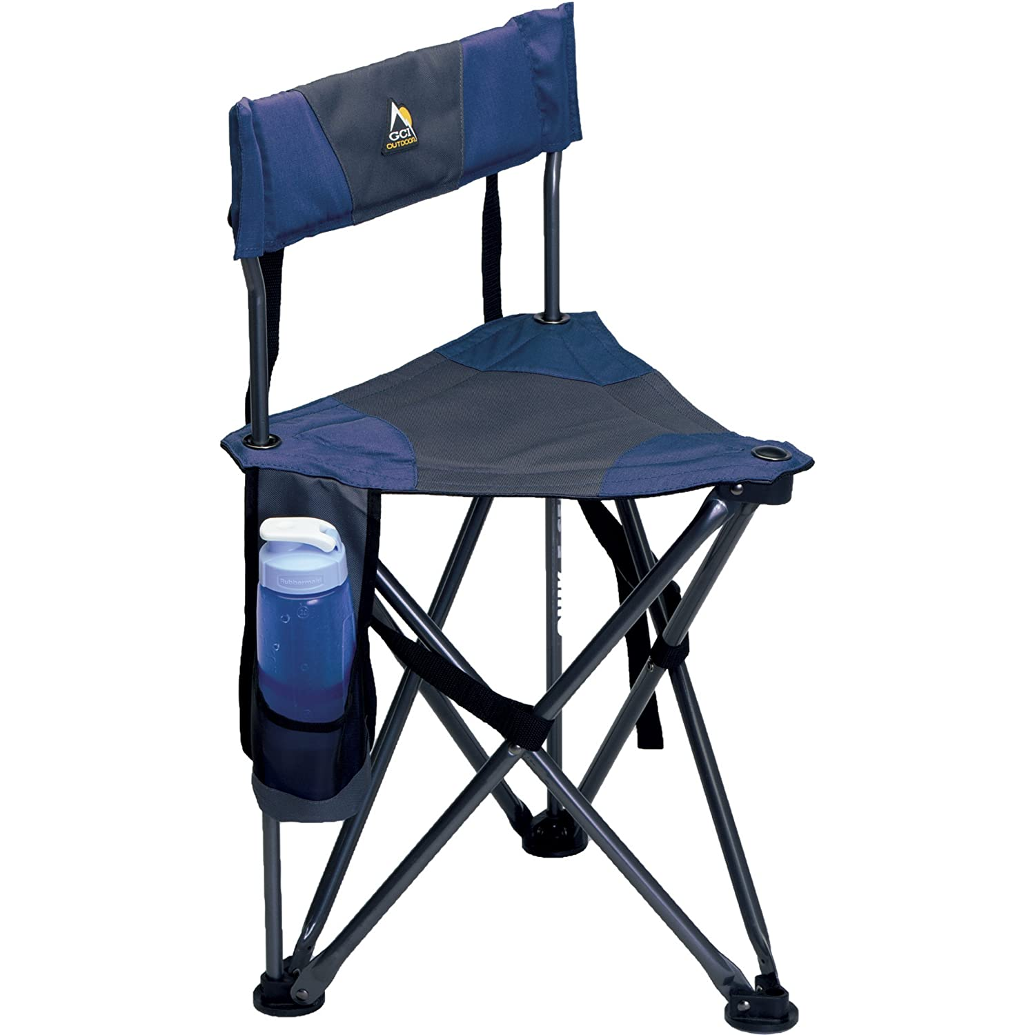 GCI Outdoor Quick E Seat Folding Tripod Field Chair with Backrest