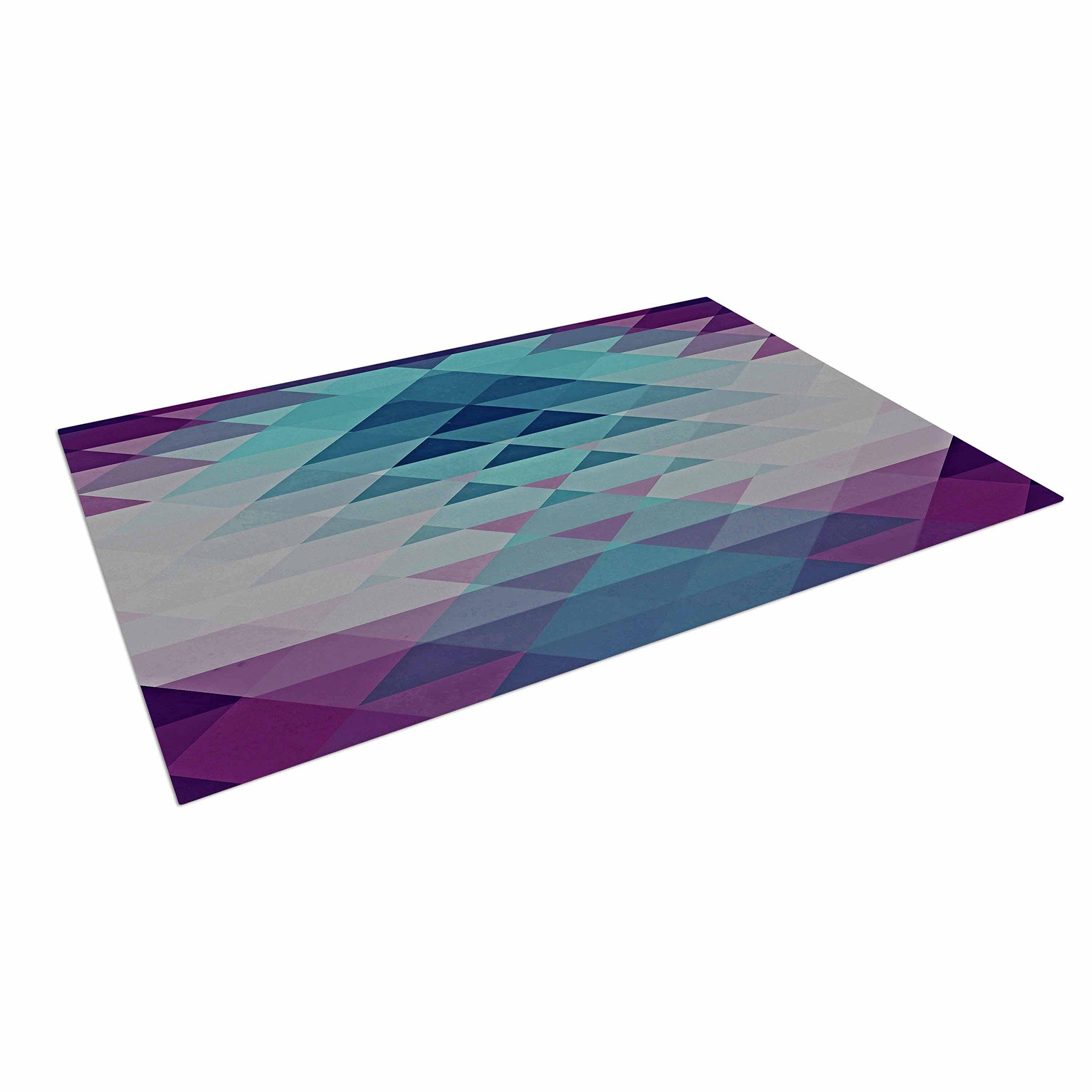 KESS InHouse Nika Martinez ''Hipster Girl'' Blue Lavender Outdoor Floor Mat, 4' x 5'