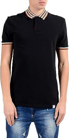 Versace Collection Men's Black Short Sleeve Polo Shirt Size US XL ...