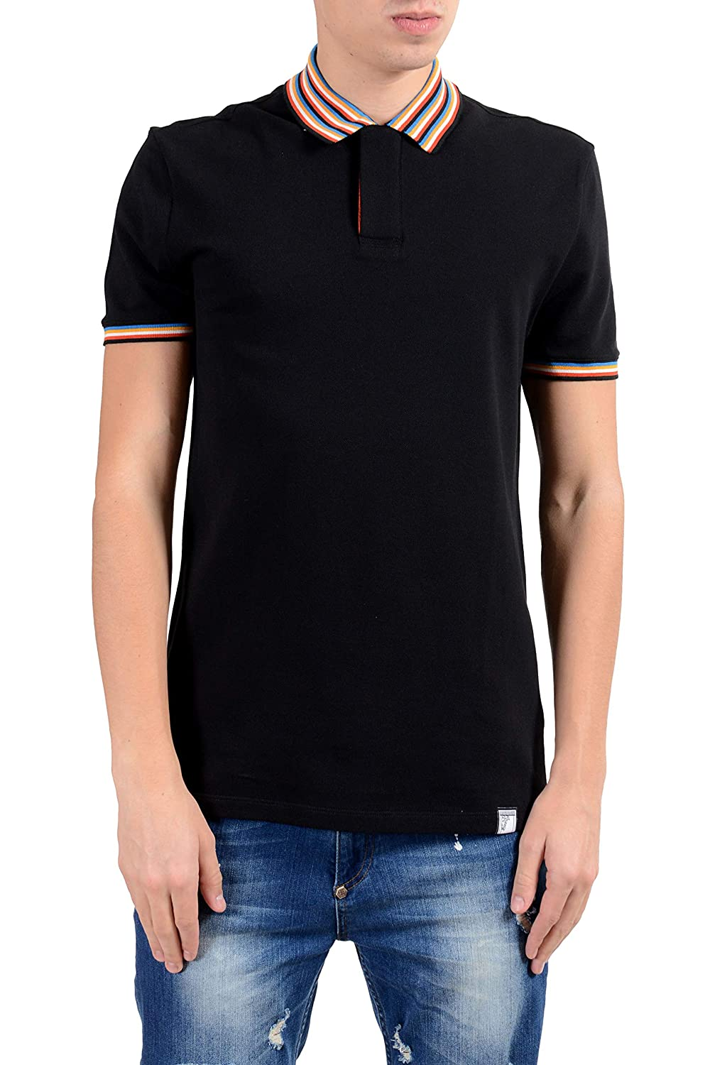 Versace Collection Mens Black Short Sleeve Polo Shirt Size US M IT 50