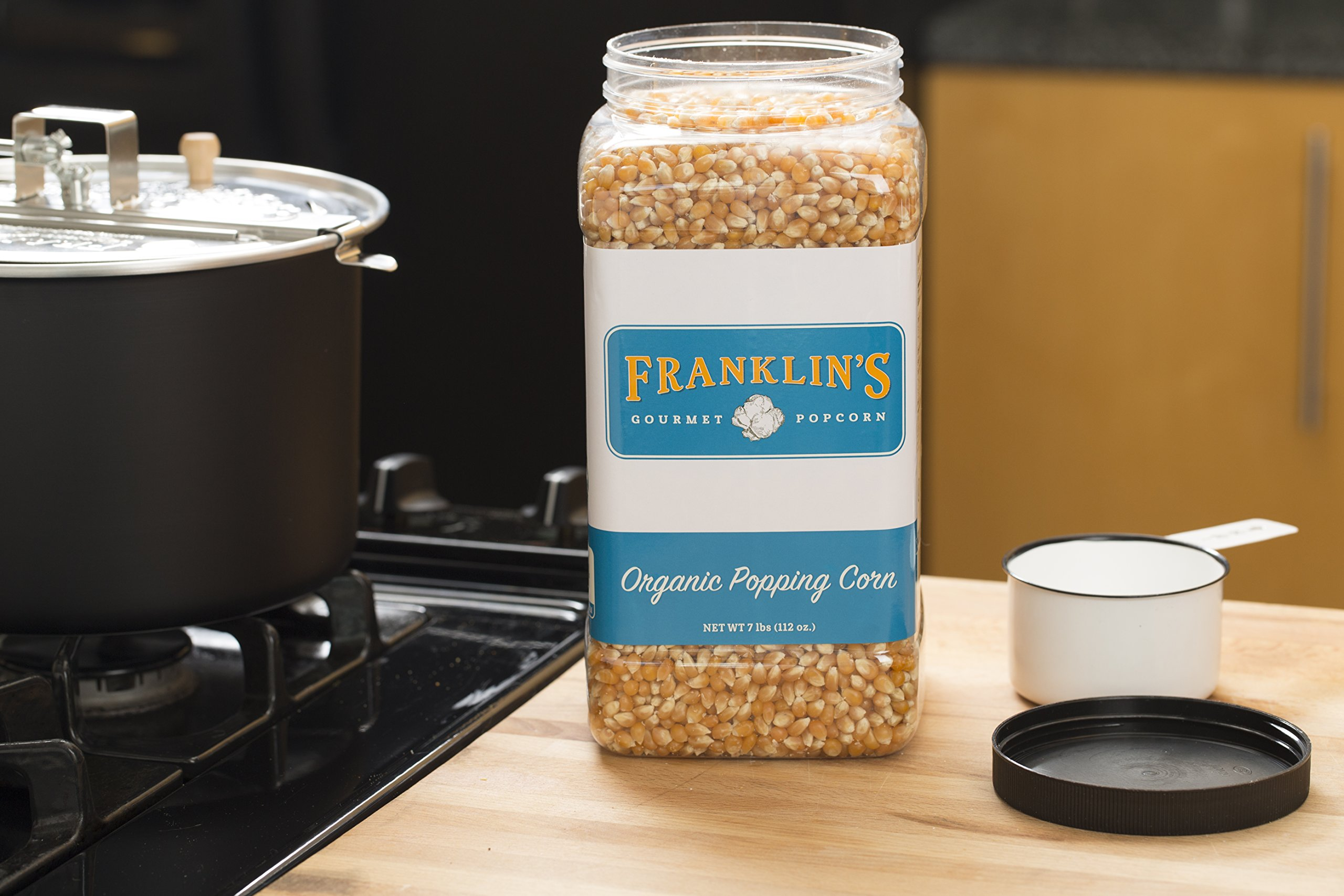 Franklin's Organic Popping Corn (7 lbs). Make Movie Theater Popcorn at Home. by Franklin's Gourmet Popcorn (Image #5)