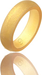 Women's Silicone Wedding Ring,6 Ring Pack beilove