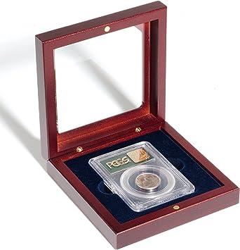 Estuche de Madera VOLTERRA, para 1 Cáps.de moneda certificada (Slab) con ventana cristal: Amazon.es: Juguetes y juegos