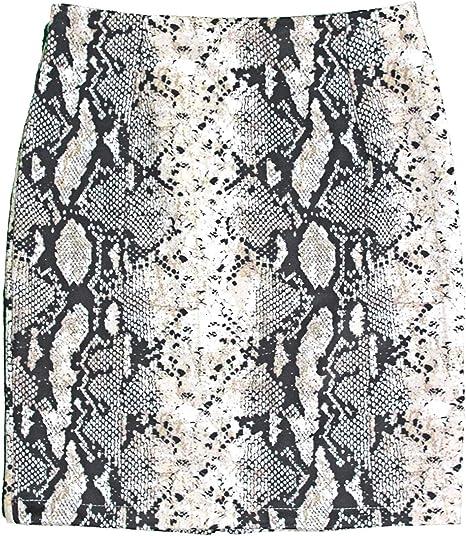 Modelisa - Falda Antelina Estampado Serpiente Mujer: Amazon.es ...